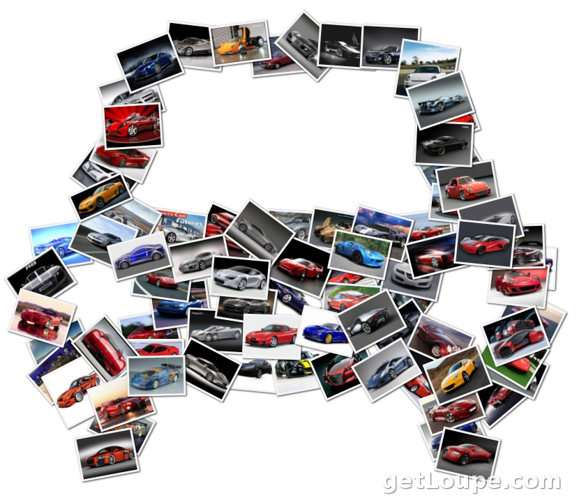 sports cars loupe collage loupe