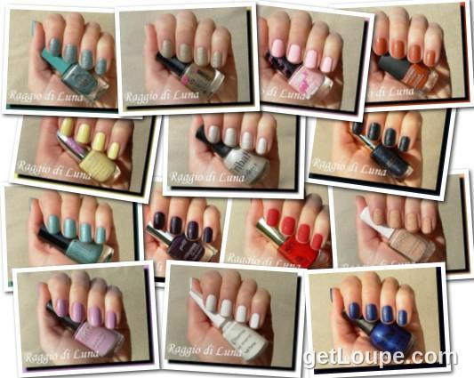 Raggio di Luna manicures collage March 2015 nail polishes