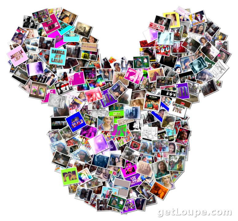 mickey mouse shape | Loupe Collage | Loupe