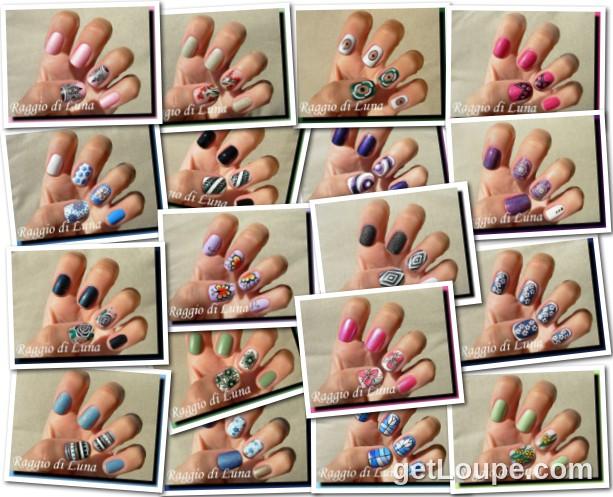 Raggio di Luna manicures collage October 2014 nail art