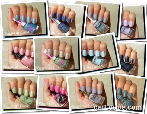 Raggio di Luna manicures collage October 2014 nail polishes