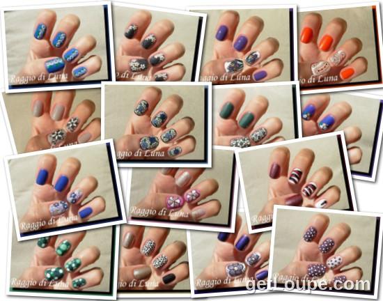 Raggio di Luna manicures collage September 2014 nail art
