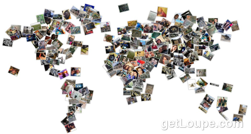 Facebook world map collage loupe collage loupe facebook world map collage made using loupe a fun fast way to make cool gumiabroncs Image collections