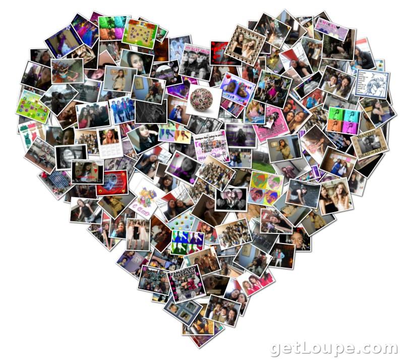 mi corazon lleno de fotos com personas importantes loupe collage loupe. Black Bedroom Furniture Sets. Home Design Ideas