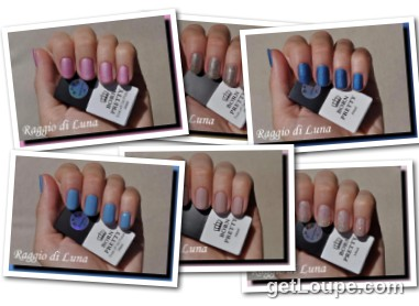 Raggio di Luna manicures collage September 2016 UV gel polishes