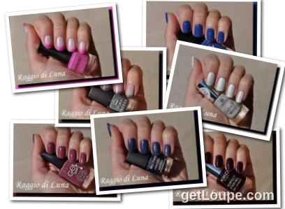 Raggio di Luna manicures collage March 2016 nail polishes