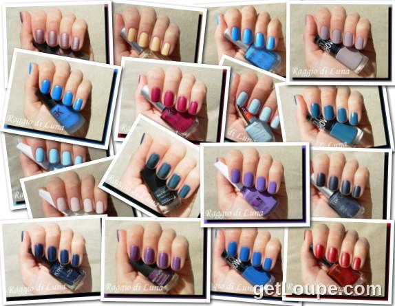 Raggio di Luna manicures collage June 2014 nail polishes