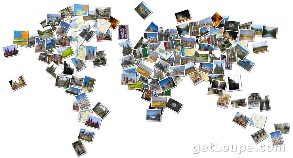Santiago spain in world map loupe collage loupe santiago spain in world map made using loupe a fun fast way to gumiabroncs