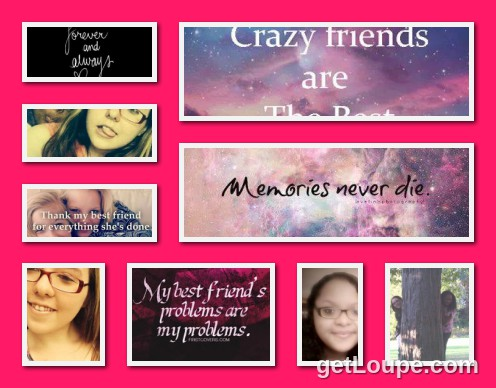 my best friend forever and always loupe collage loupe