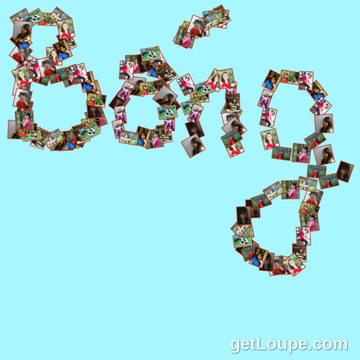 bống Made using Loupe - a fun & fast way to make cool creations with your photos.