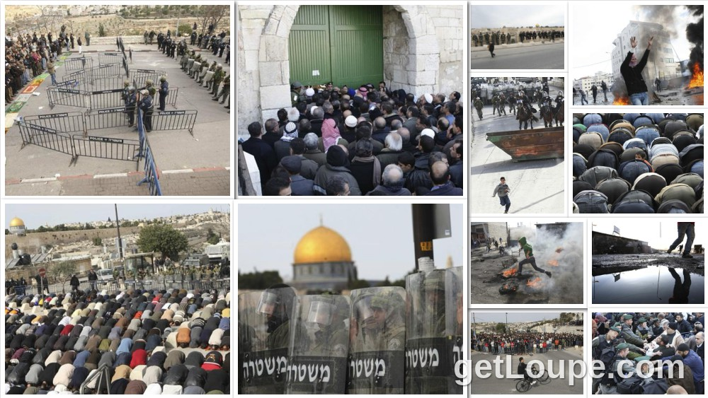 Only in Jerusalem The City of Prophets Religion and Faith 1st prize \ Series Atta Awisat  Street Prayers Israel often restricts entry to Al-Aqsa Mosque in East Jerusalem as it fears riots. Prayers are held in adjacent streets.  January 2009
