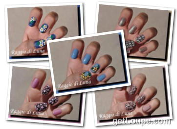 Raggio di Luna manicures collage September 2016 UV gel manicures Made using Loupe - a fun & fast way to make cool creations with your photos.