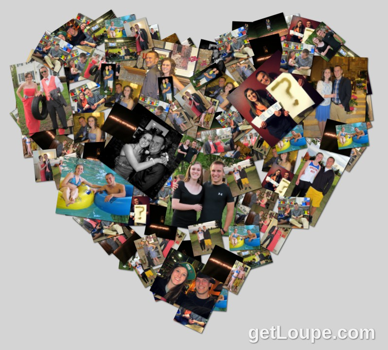 one year anniversary collage peter ketter andrea steffen celebrating one year of love together