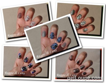 Raggio di Luna manicures collage October 2016 UV gel manicures