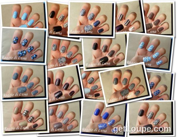 Raggio di Luna manicures collage April 2015 nail art
