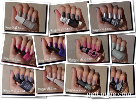 Raggio di Luna manicures collage January 2016 nail polishes