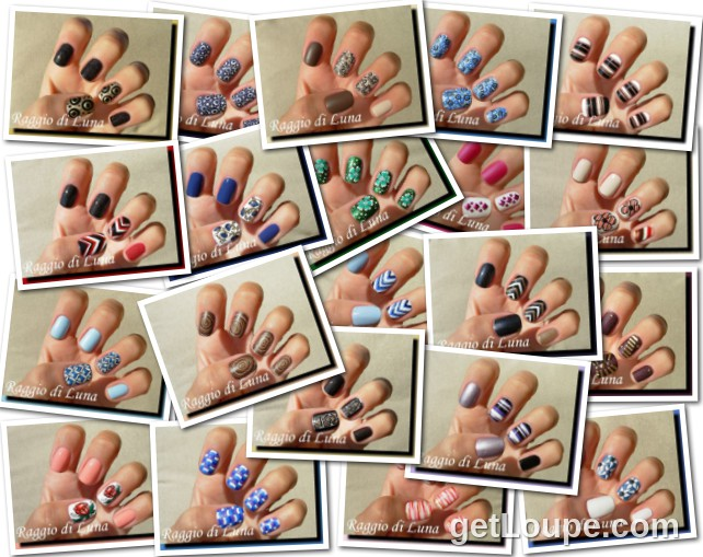 Raggio di Luna manicures collage November 2014 nail art