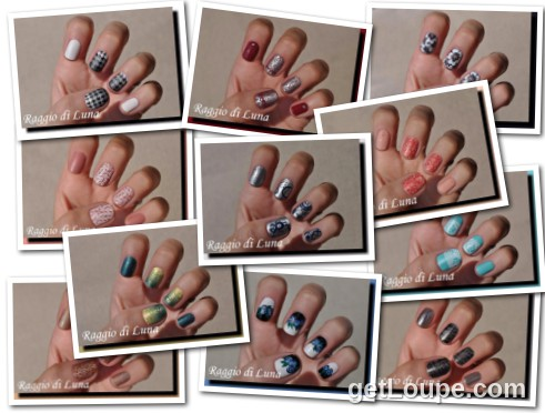 Raggio di Luna manicures collage September 2016 nail art Made using Loupe - a fun & fast way to make cool creations with your photos.
