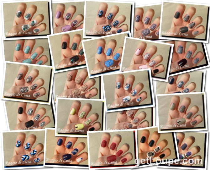 Raggio di Luna manicures collage March 2015 nail art