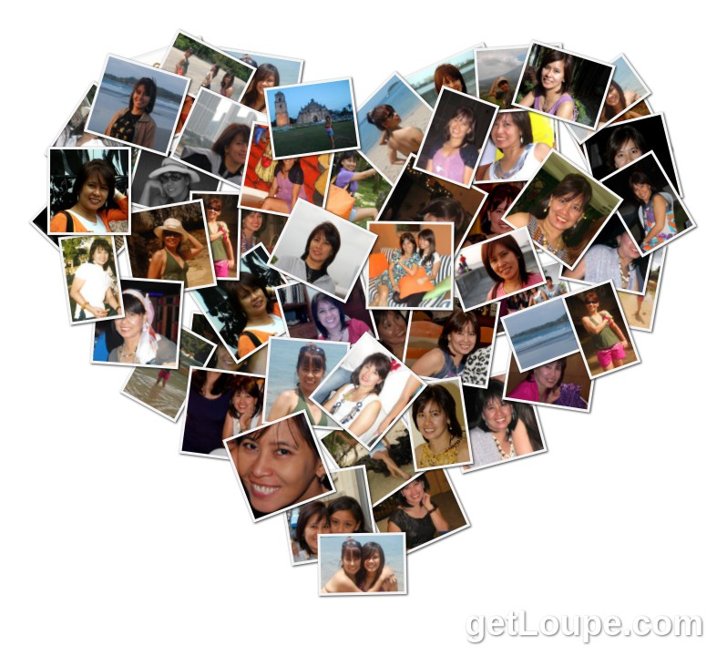 my heart shape collage Made using Loupe