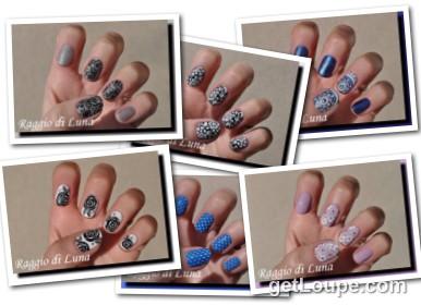 Raggio di Luna manicures collage June 2016 UV gel manicures