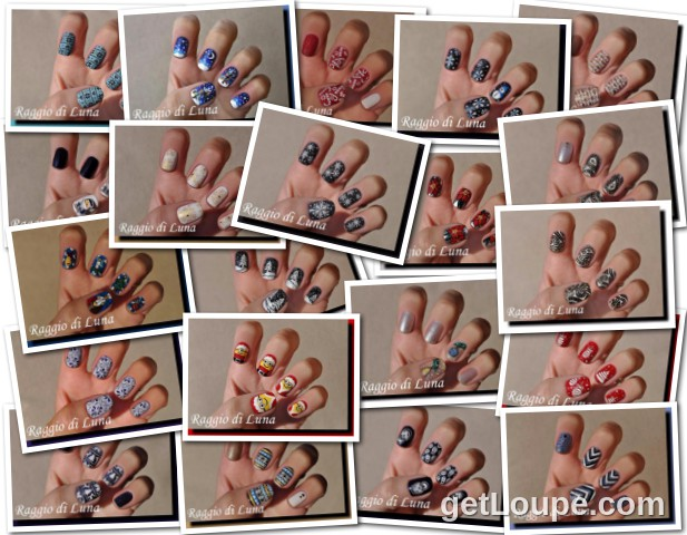 Raggio di Luna manicures collage December 2015 nail art
