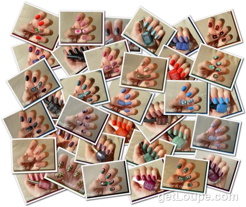 Raggio di Luna manicures collage March 2013