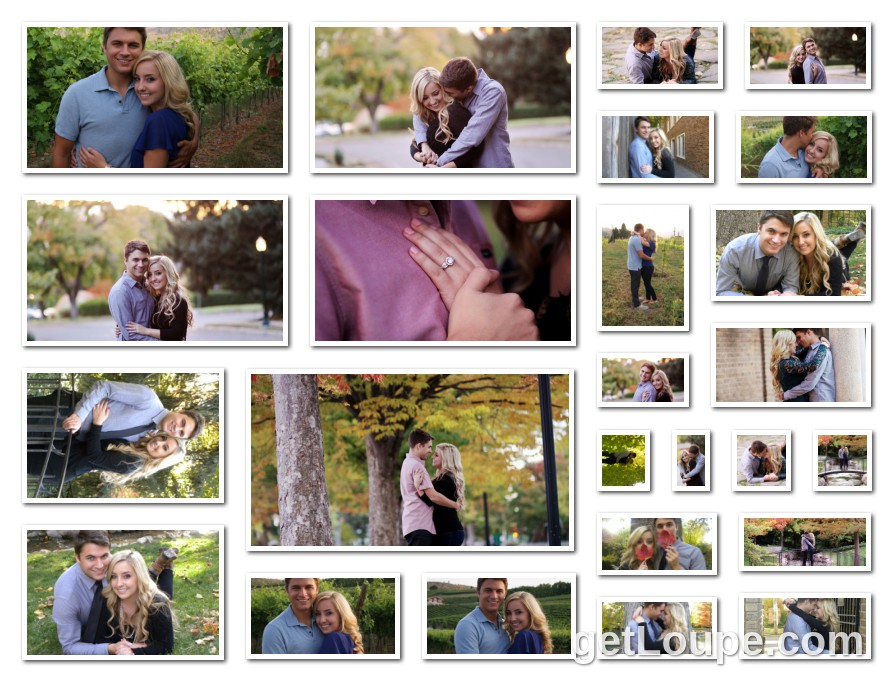 Engagement Pics Made using Loupe - a fun & fast way to make cool creations with your photos.