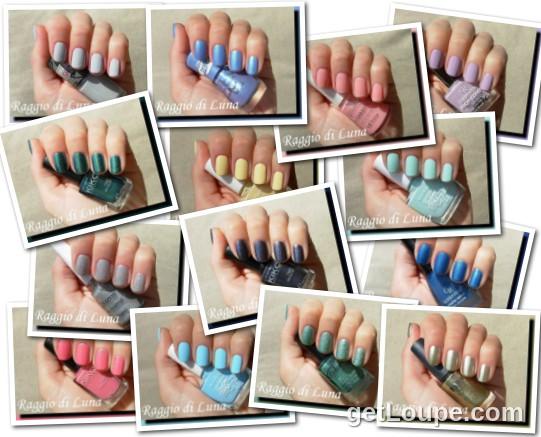 Raggio di Luna manicures collage 2014 nail polishes