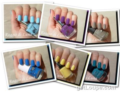 Raggio di luna manicures collage July 2015 nail polishes