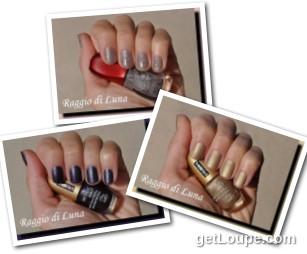 Raggio di Luna manicures collage November 2016 nail polishes