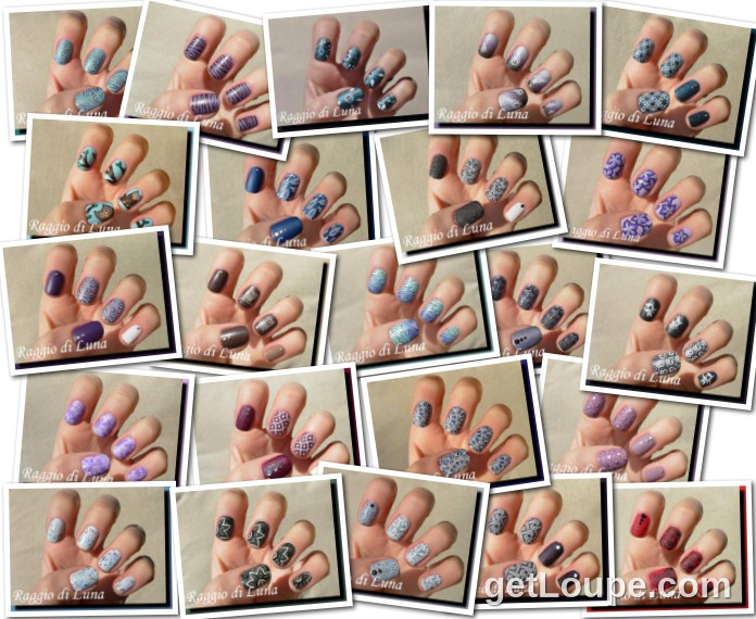 Raggio di Luna manicures collage June 2015 nail art
