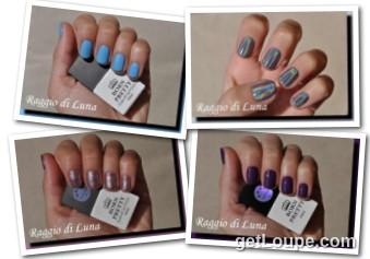 Raggio di Luna manicures collage November 2016 UV gel polishes