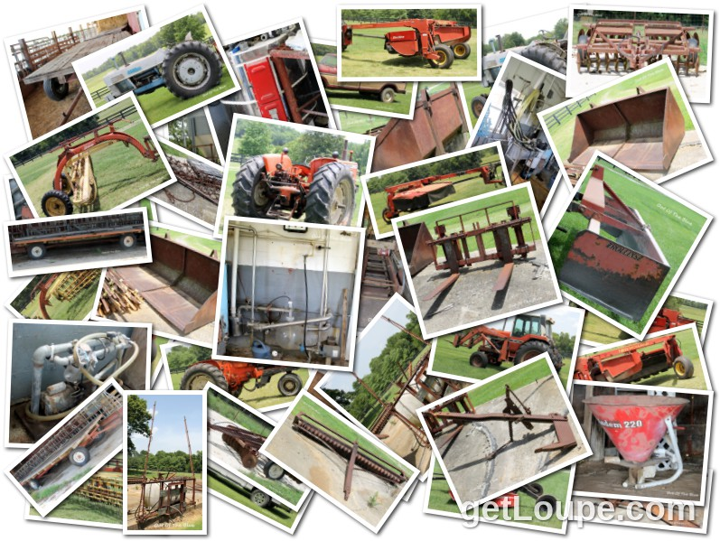 Billy Noland Estate Sale Farm Equipment Made using Loupe - a fun & fast way to make cool creations with your photos.