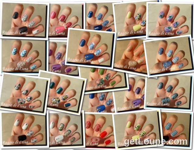 Raggio di Luna manicures collage February 2015 nail art Made using Loupe - a fun & fast way to make cool creations with your photos.