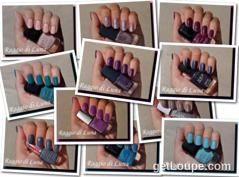 Raggio di Luna manicures collage September 2015 nail polishes