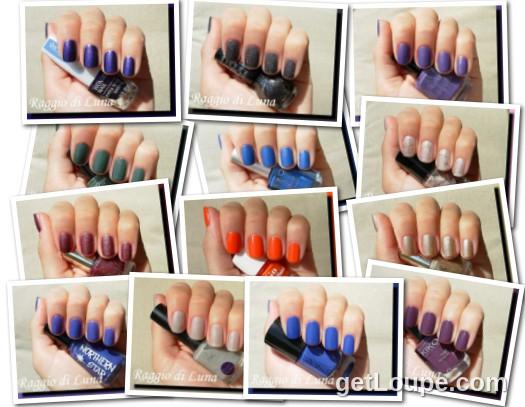 Raggio di Luna manicures collage September 2014 nail polishes