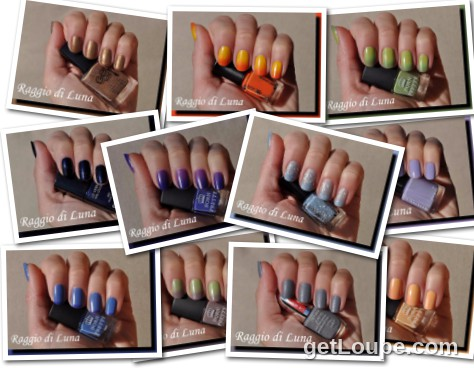 Raggio di Luna manicures collage February 2016 nail polishes