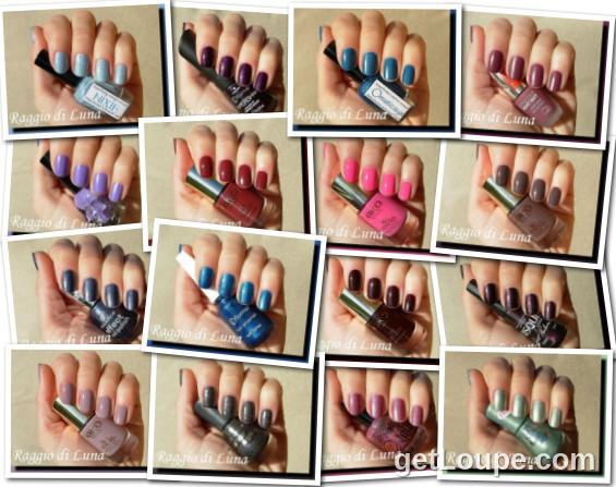 Raggio di Luna manicures collage January 2015 nail polishes