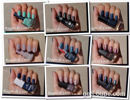 Raggio di Luna manicures collage November 2015 nail polishes