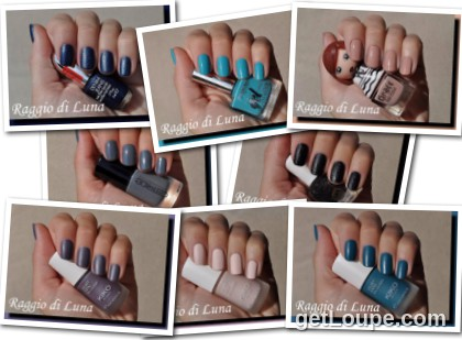 Raggio di Luna manicures collage October 2015 nail polishes