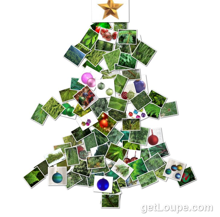 Christmas Tree Made using Loupe - a fun & fast way to make cool creations with your photos.
