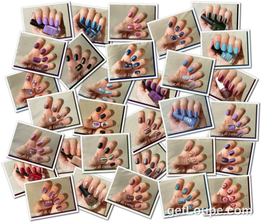 Raggio di Luna manicures collage May 2013