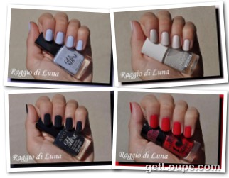 Raggio di Luna manicures collage August 2016 nail polishes
