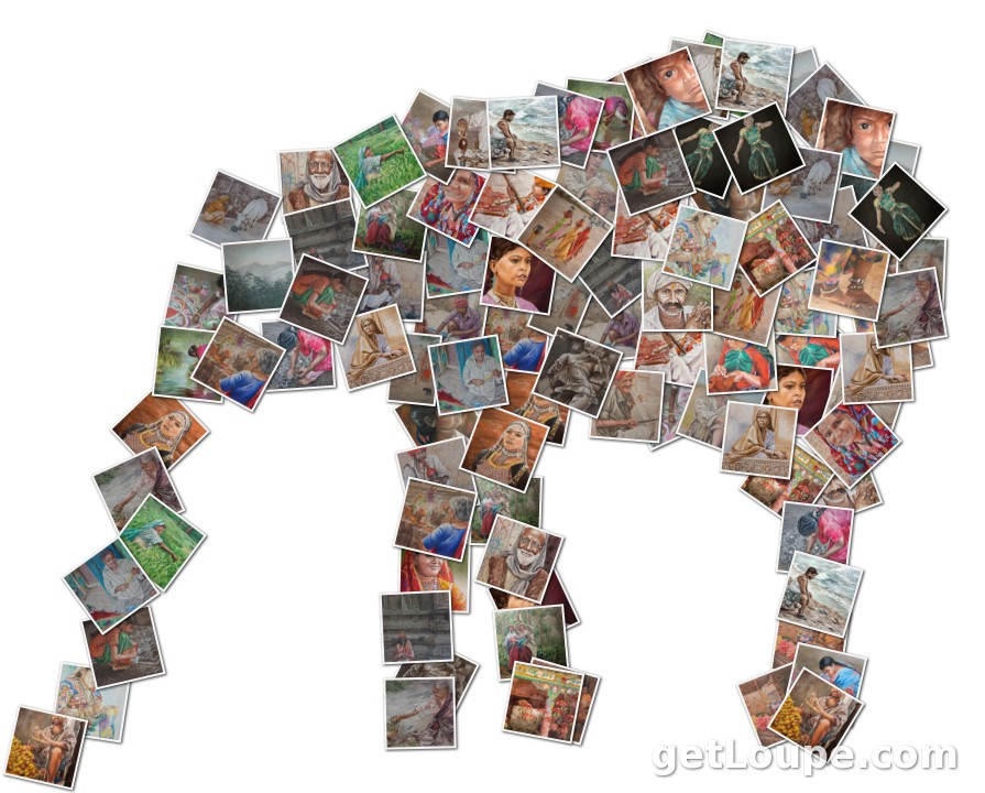 Enderle Artwork - India Collage of Melissa Enderle's artwork of India