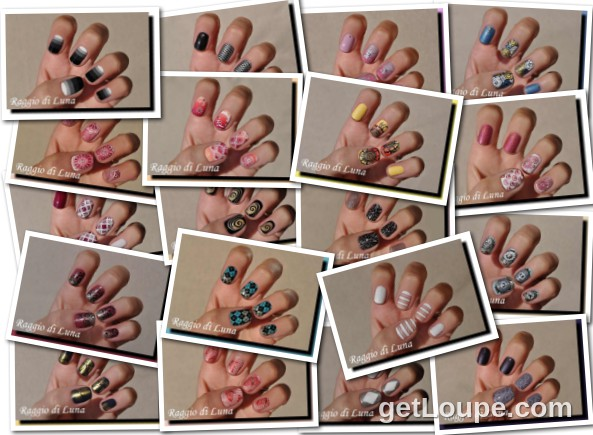 Raggio di Luna manicures collage November 2016 nail art