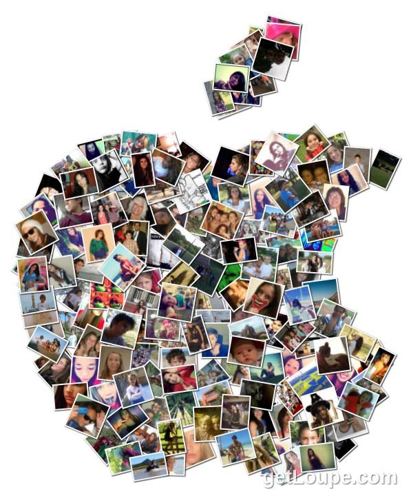 Manzana apple loupe collage loupe - Como hacer un collage de fotos a mano ...