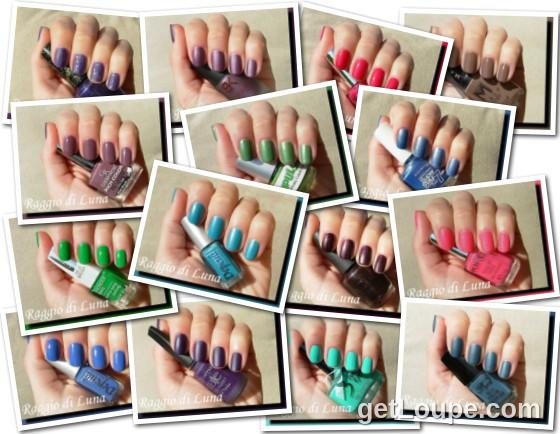 Raggio di Luna manicures collage April 2014 nail polishes