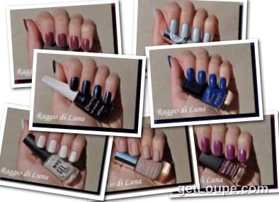 Raggio di Luna manicures collage April 2016 nail polishes