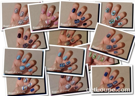 Raggio di Luna manicures collage January 2017 nail art